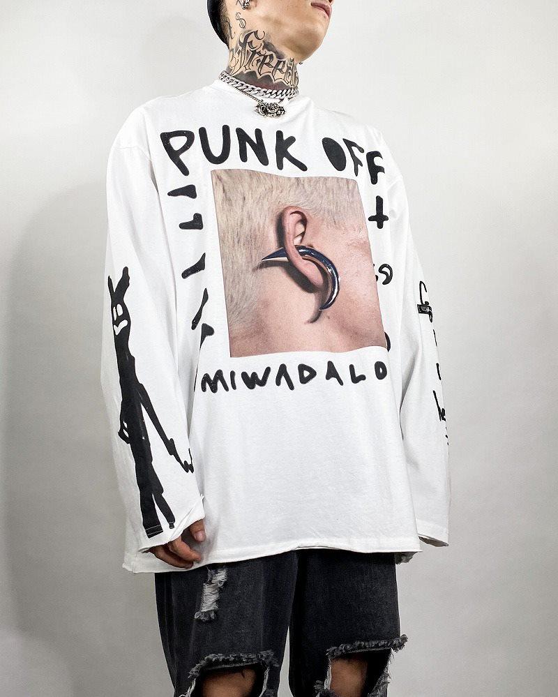 《2色》PUNK OFF ロングTシャツの画像1